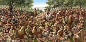 multiplicação 300x148 Jesus e os pães